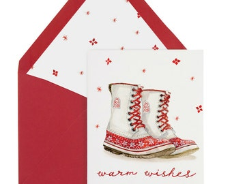 Winter Boots Card