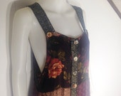 RESERVED LISTING- Vintage 90s Patchwork Floral Dress