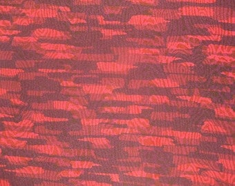 Kimono Silk Red Abstract