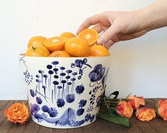 Handmade, Pottery, Medium, Bowl, Delft, Hand-painted, Blue