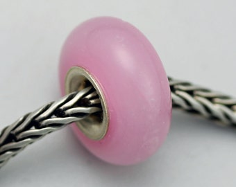 Unique Pink Opal Bead - Artisan Glass Charm Bracelet Bead (MH-64)