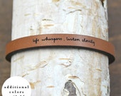 life whispers - adjustable leather bracelet  (additional colors available)