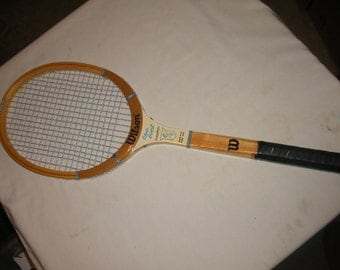 Vintage Chris Evert Champion Speed Flex 4 3/8 Wilson Wooden Tennis Racquet (Court)