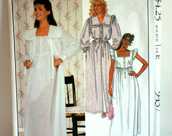 McCalls Pattern 9437 Womens Laura Ashley Nightwear M Uncut