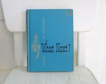 Vintage Child Book, Vintage School Reader, Vintage Child Chapter Book, Aqua Blue Book, What's Next, Vintage Reader, Children's Book