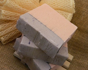 Lavender Apple Goats Milk Soap with activated hardwood charcoal