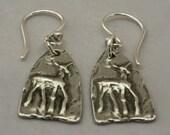 Silver Pewter Deer Earrings, Tiny Deer Jewelry, Nature Lover Earrings, Buck Earrings, Doe earrings, Animal lover, Nature lover gift under 20