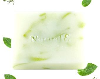 Rosemary Mint Soap/ Organic Soap/ Natural Soap/ Herbal Soap/ Mint Soap/ Handmade Soap