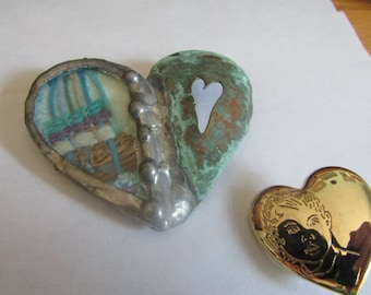 stain glass heart plus