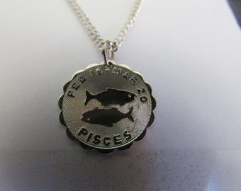 silver pisces pendent