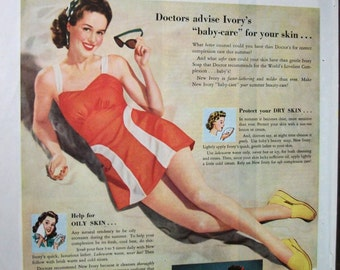 COS-111  Ivory Soap Ad  -  1942