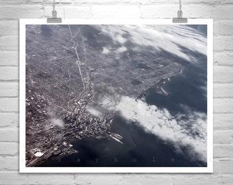 Chicago Photograph, City Photo, Aerial Photo, Chicago Picture, Lake Michigan, Illinois, MurrayBolesta, Windy City, Photo Print, Original Art