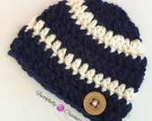 Newborn boy beanie.. Chunky hat.. Photo prop.. Ready to ship