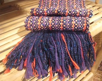 HANDWOVEN SCARF wool and cotton