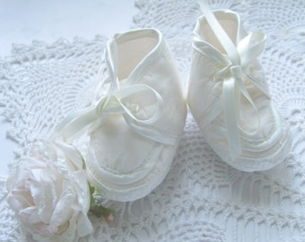 Baby Booties, Christening Shoes, Baptism Shoes, Baby Girl Footwear, Baby Shower Gift, 0 to 3 Months, by enfantjoli on etsy