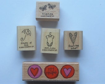 Destash -- Rubber Stamp Set Collection (set of 5)