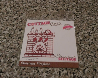 CottageCutz Christmas Fireplace Die