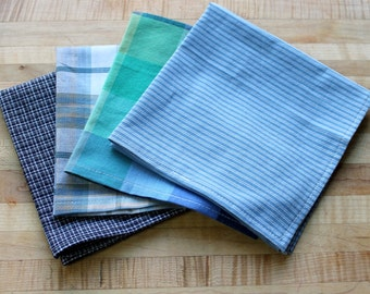 blue tone cotton hankerchief,cotton napkins,cotton hankies,cotton handkerchief,handkerchief,hankies,napkin,blue,blue napkins,eco-friendly
