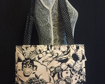 Pen & Ink Style Marvel Lightweight Bag
