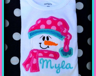 Snowflake Bodysuit, Personalized Baby Gift, Baby First Christmas, Baby Christmas Gift, Baby Gift Idea, Snowman Bodysuit,  Baby Girl,  1st Ch
