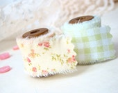 Vintage Hand Frayed Fabric Ribbon