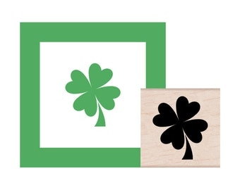 NEW for 2017 Four Leaf Clover Rubber Stamp