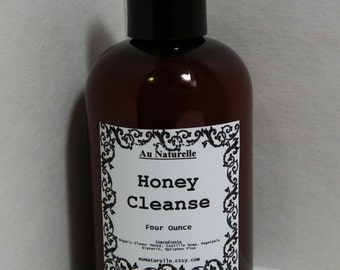 HONEY CLEANSE   -  All Natural Honey Facial Cleanser  - 4 Ounce - Gentle -  Sensitive Skin Types
