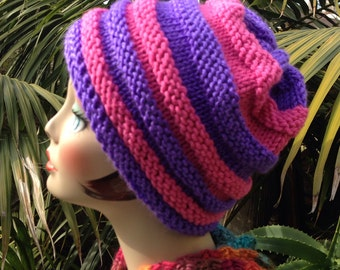 Cheshire Cat Knit Slouchy Hat