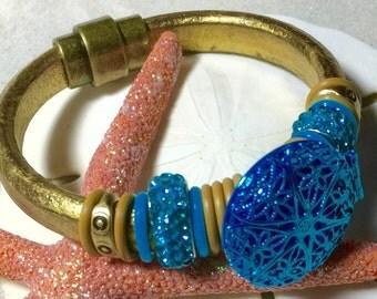 Essential oil Leather Regaliz Bracelet
