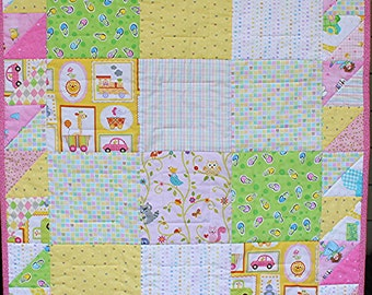 NWOT Baby Quilt Hand/Machine Quilted 100% Cotton FREE SHIPPING