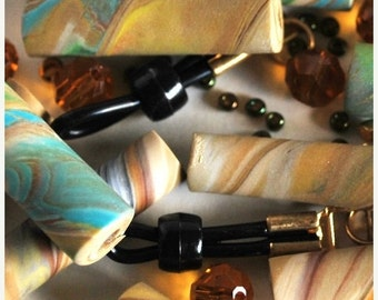 Polymer Clay Beads, Polymer Beads, Beads for Sale, Loose Beads, Clay Beads, Handmade Beads, Fimo Beads, Beading Supply, Tube Beads, Bead Kit