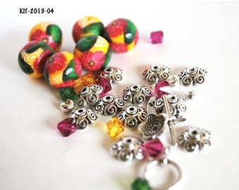Polymer Clay Beads, Polymer Beads, Beads for Sale, Loose Beads, Clay Beads, Handmade Beads, Fimo Beads, Beading Supply, Bead Kit