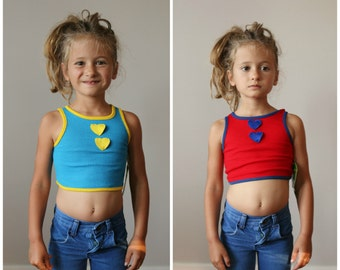 NOS, 1970s Sugar & Spice Crop Top >>> Size 2t/3t