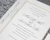 Gold Wedding Invitation | Formal Wedding Invitation | Simple Wedding Invitation | Formal Invitation, Traditional Invitation, Mikah & Patrick
