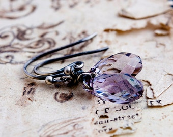 Drop Earrings, Crystal Earrings, Dangle Earrings, Sterling Silver, Mauve Drops, Swarovski Crystal, Swarovski Earrings, PoleStar