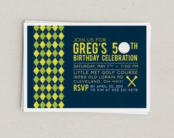 Golf Party Invitation