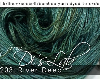 From the Lab - DtO 203: River Deep on Silk/Linen/Seacell/Bamboo Yarn Custom Dyed-to-Order