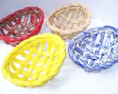Traditional ceramic bread basket- warmer- baker center piece aerated fruit bowl- home decor