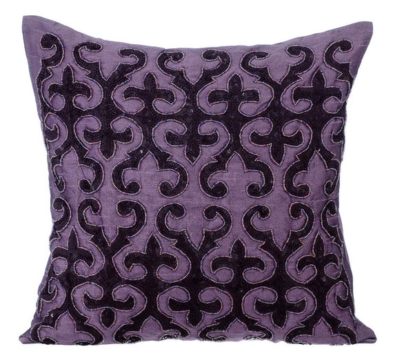 Purple Decorative Throw Pillow Covers Accent Pillow Couch Sofa