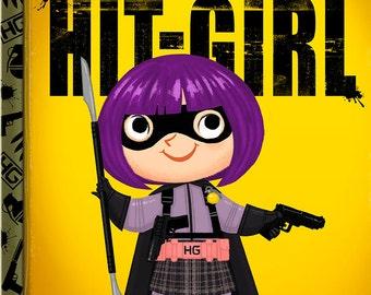 The Little Hit-Girl - 8x10 PRINT