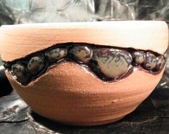 Carved Jasper Glazed Pebble Pot by oddartist