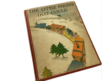 vintage The Little Engine That Could Retold by Watty Piper Illustrated by Lois Lenski antique childrens book 1930 Platt Munk early version