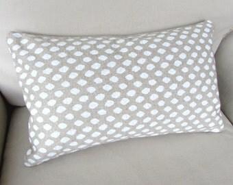 Sahara Chalk decorative Pillow 12x20 includes insert