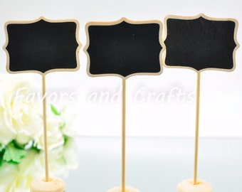 12 Wedding Table Number Wooden Chalkboard Stands Supplies Displays for Craft Shows Jenuine Crafts