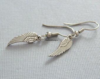 Angel Wings, Earrings/Mini Angel Wing Earrings/Silver Angel Wing Earrings/Tiny Silver Angel Wings Earrings/Silver Earrings/ANGEL WINGS