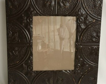 Reclaimed Tin Ceiling Rust 11 x 14 Picture Frame Photo 232-16