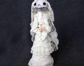 Aideen - a celtic Halloween ghost bride art doll
