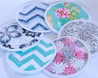 Nursing  Pads, reusable nursing pad, waterproof breast pads, PUL, flannel, zorb, washable,  6 pairs