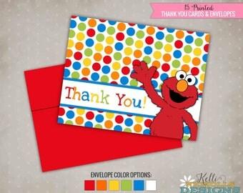 Elmo Thank You Note Etsy - Children's birthday thank you notes