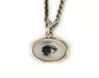Tiny Eye Photo Pendant